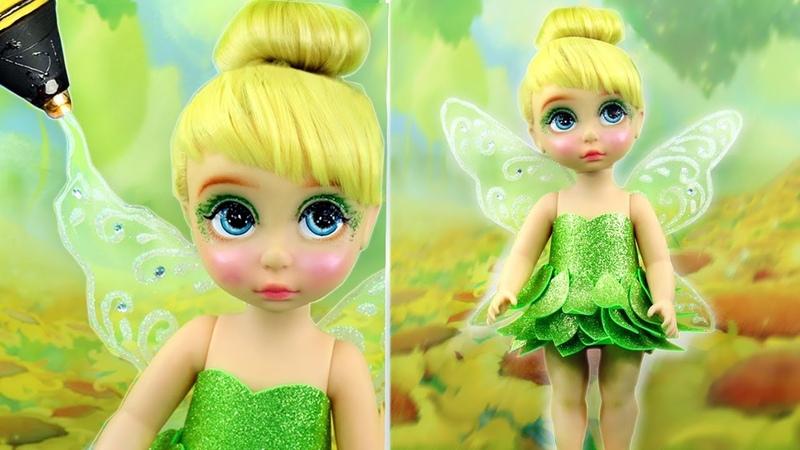 TINKER BELL FAIRY NEW MAKE UP 💄 Custom TINKERBELL PRINCESS Doll Kids Makeup Dress Up