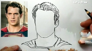 ASMR drawing SUPERMAN , How to draw hero justice league zack snyder cut
