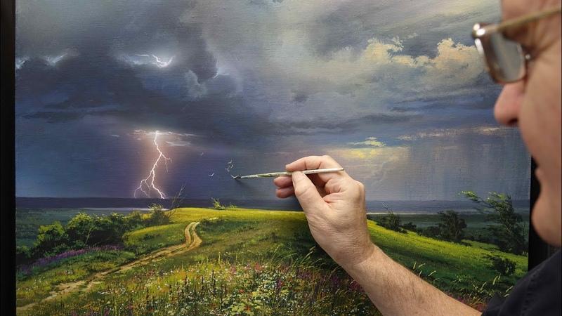 Awakening Summer Thunderstorm Acrylic Artist Viktor Yushkevich 15 photos in 2020