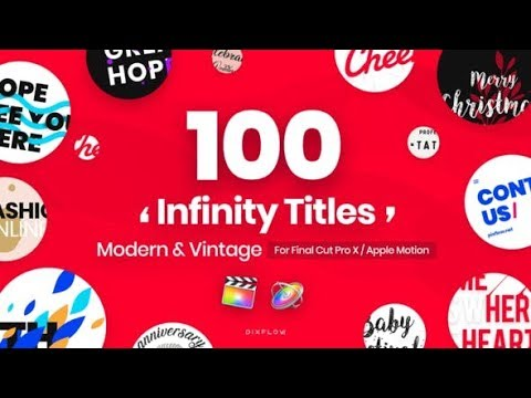 Infinity Titles for Final Cut Pro videohive