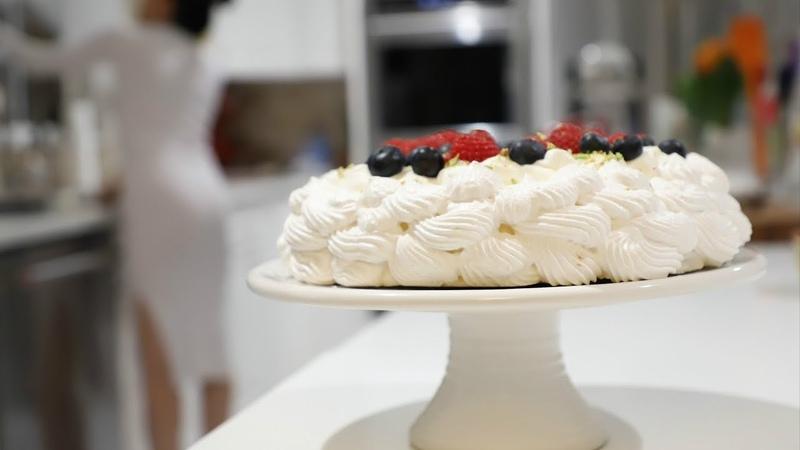 Տորթ Պավլովա Բեզեով Սերուցքով Թխվածք Cake Pavlova Heghine