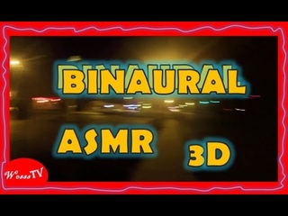ASMR Night Traveling Riding Bicycle through Binaural 3d Sounds Whispers - Wesss TV