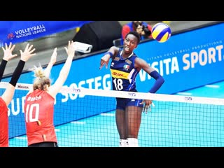 Top 10 powerful volleyball spikes by paola ogechi egonu womens vnl 2019
