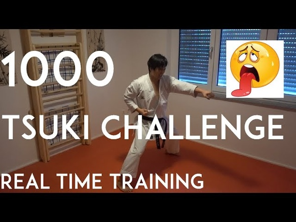 1000 TSUKI challenge - karate punch real time training - TEAM KI