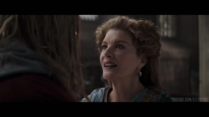 Тор встречается с матерью в прошлом Мстители Финал