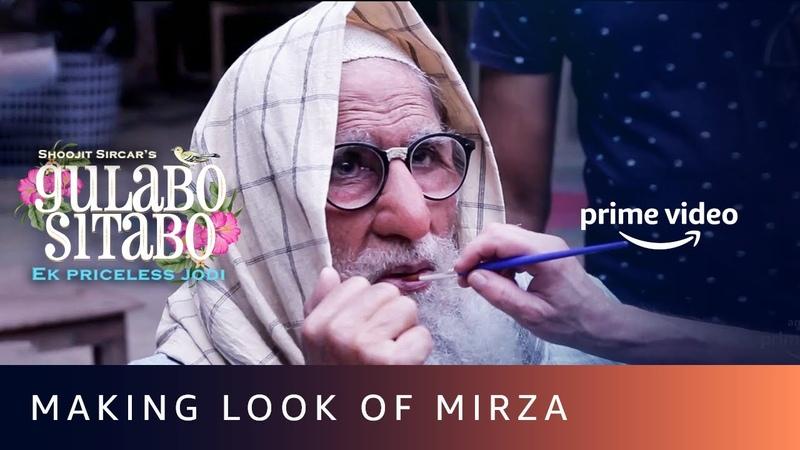 Making look of Mirza for Amitabh Bachchan Gulabo Sitabo Shoojit Sircar Ronnie Lehri June 12