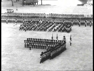 Queen Gives New Colours To Grenadiers (1953)