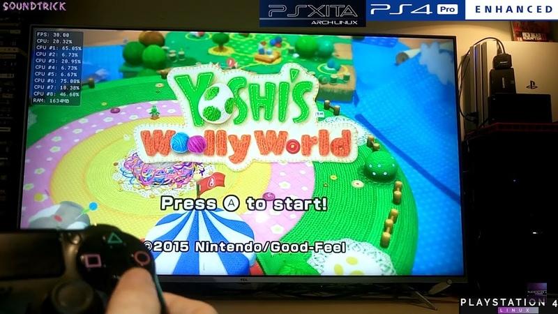 Yoshi's Woolly World on PS4 PRO 5 05 Psxitarch Linux v2 CEMU 1 15 8 VRAM 2
