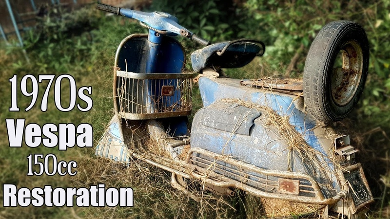 1970s Piaggio Italian 150cc Vespa Restoration Tear down Old Vespa after 50 years