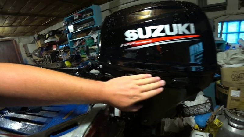 Обзор обкатка лодочного мотора SUZUKI Pavlovskij