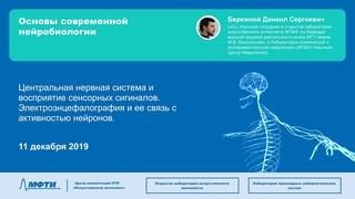 Центральная нервная система и восприятие сенсорных сигналов. Электроэнцефалография.