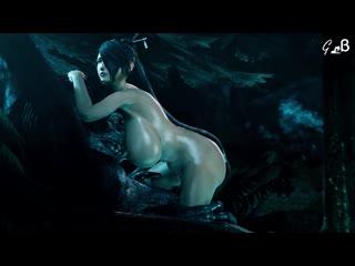 Lulu x werewolf (final fantasy sex)