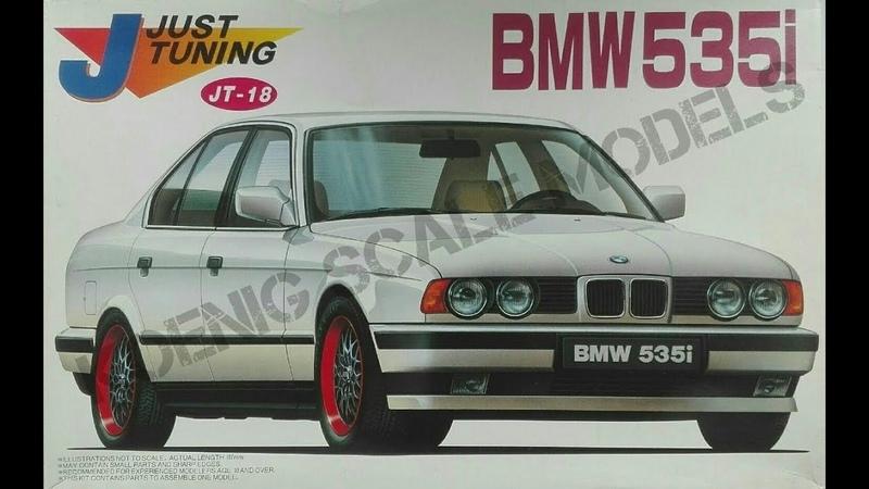 Обзор BMW 535i E34 Just Tuning Fujimi 1 24 сборные модели