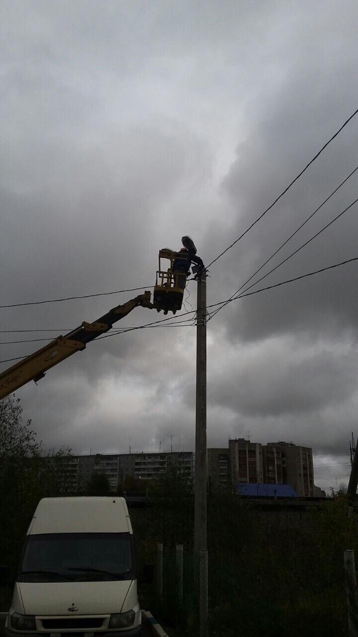 Улица Московская дом 201 установка прожекторов