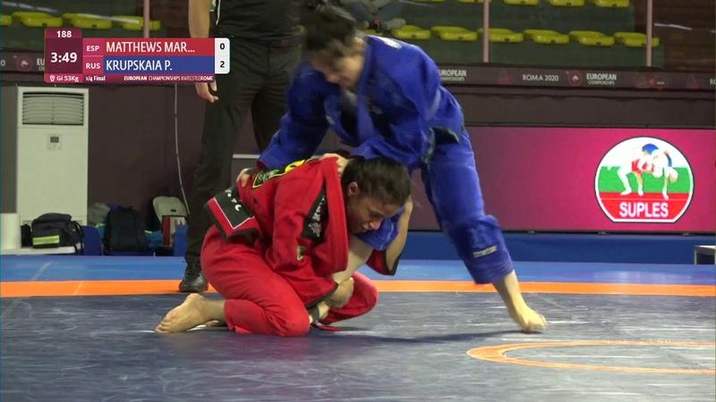 1 4 Women's GP GI 53 kg N MATTHEWS MAR ESP v P KRUPSKAIA RUS