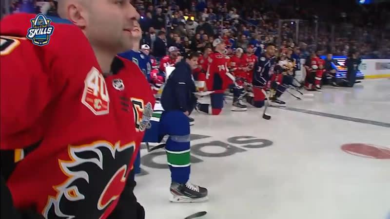 Ши Уэбер стал победителем конкурса на самый сильный бросок в рамках All Star Skills перед Матчем звезд НХЛ ⭐️