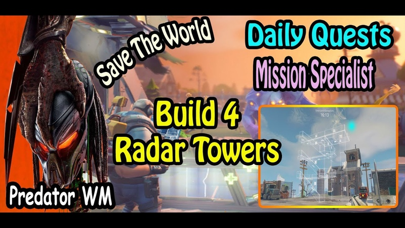 Build 4 Radar Towers in successful missions