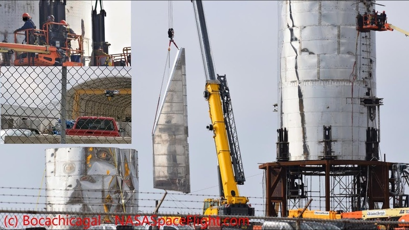 SpaceX Starship - More steel arrives for Mk3 as Mk1 loses her legs