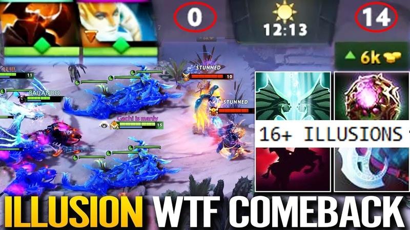 ILLUSIONS Gaming WTF Comeback 7 22h Combo Naga Siren Chaos Knight Dota 2 by AdmiralBulldog