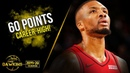Damian Lillard Career-HiGH 60 Pts!   Blazers vs Nets Nov 8, 2019   FreeDawkins