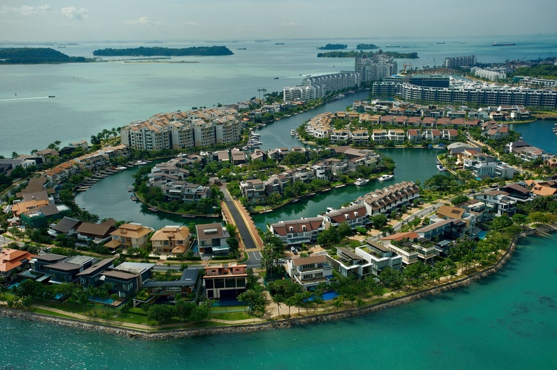 Новые районы Сингапура возводятся на искусственных насыпных островах