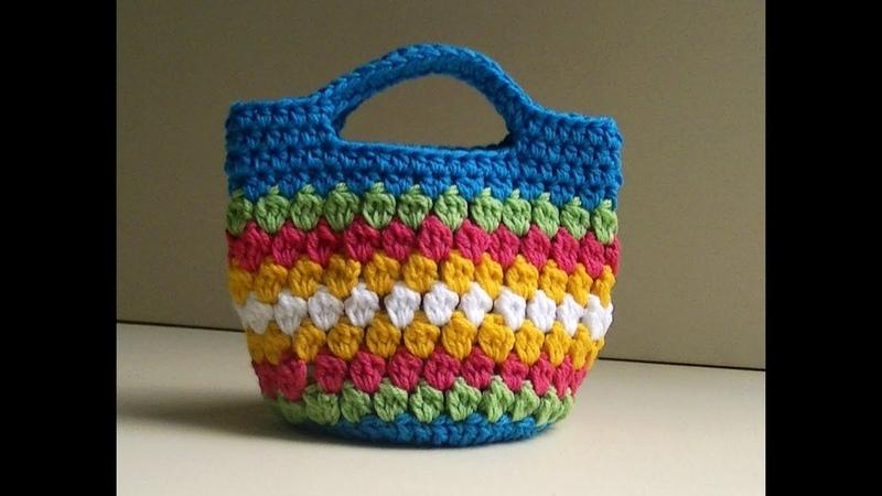 Cluster Stitch Bag Crochet Tutorial Idea's for hat