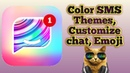 How to change SMS theme Customize chat Emoji🔥🔥🔥
