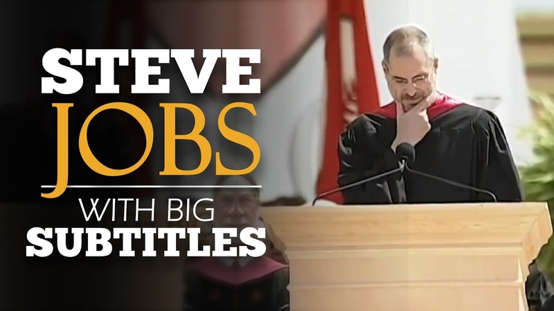 ENGLISH SPEECH | STEVE JOBS: Stanford Commencement (English Subtitles)