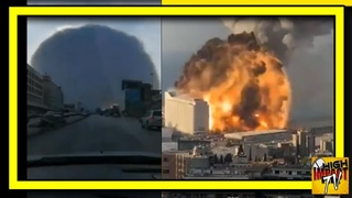 BREAKING! MASSIVE Mushroom-Shaped Explosion in Beirut Multiple Angles (compilation & comparison)