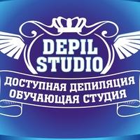 Логотип Depil studio/ депиляция Томск /Обучение