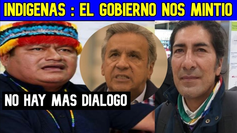 Jaime Vargas CONAIE no hay mas DIALOGO con el GOBIERNO