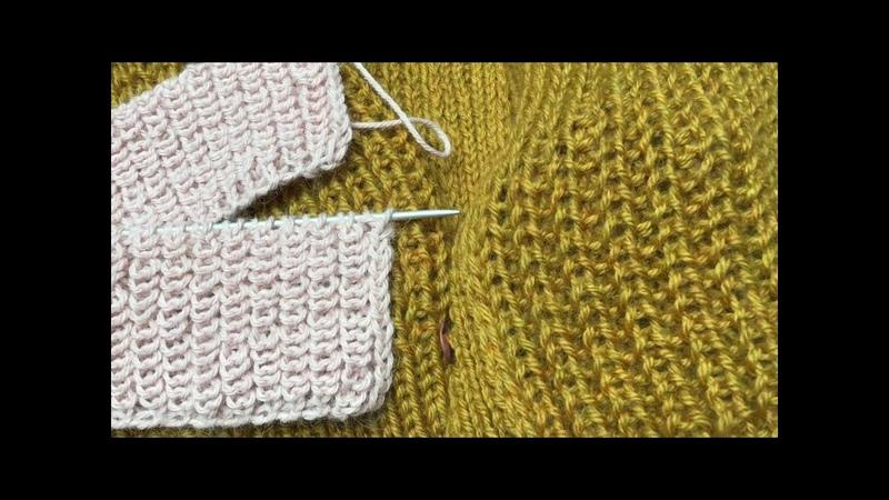 Полупатентная резинка Ложная английская резинка 2 Метода Подготовительное видео Brioche Stitch