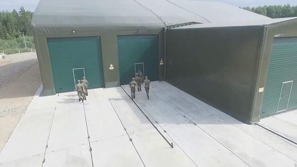 Ангар для «Пересвета» показан на видео Министерства обороны, выпущенном в июле 2018 года.