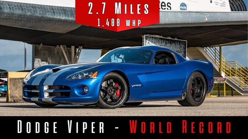 2006 Dodge Viper Twin Turbo (Top Speed Test)   NEW WORLD RECORD  