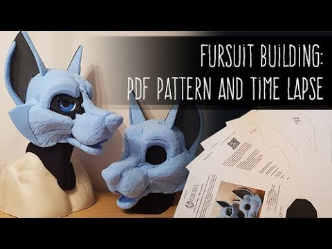 PDF Pattern and time lapse on sale now Canine Fursuit Head