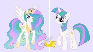 Princess Celestia as Twilight Sparkle MLP