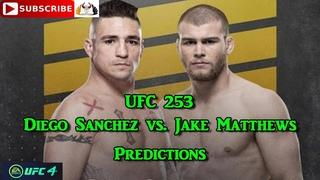UFC 253 Diego Sanchez  vs. Jake Matthews Predictions EA Sports UFC 4