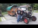 Немец на тракторе с прицепом в России едет на ЧМ 2018 по футболу