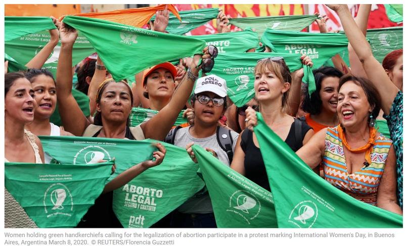 Зелёный платок — символ поддержки абортов