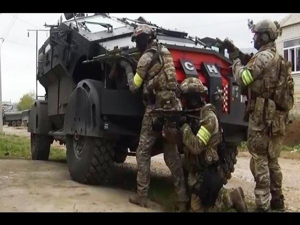 Спецназ Альфа ЦСН ФСБ Штурмует террориста в Махачкале оперативная съёмка