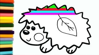 Como desenhar um ouriço | Tekening van een egel voor kinderen