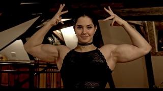 Athletic girl Slava Galagan, muscular fitness model, sports motivation, crossfit model, sexy lady