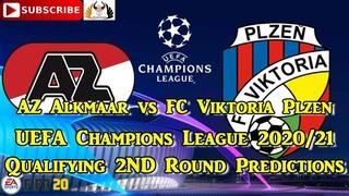 AZ Alkmaar vs FC Viktoria Plzen | 2020-21 UEFA Champions League Qualifying | Predictions FIFA 20