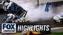 Denny Hamlin wins Daytona 500 as Ryan Newman's car flips on last lap NASCAR ON FOX HIGHLIGHTS