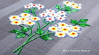 White Small Hand Embroidery Flowers,Patterns,Wonderful flowers Embroidery-69, #StayHome #withme