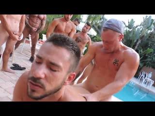 Owen's Raw Poolside Servicegay porn orgy
