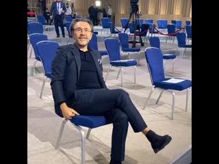 Сергей Шнуров на пресс-конференции Владимира Путина