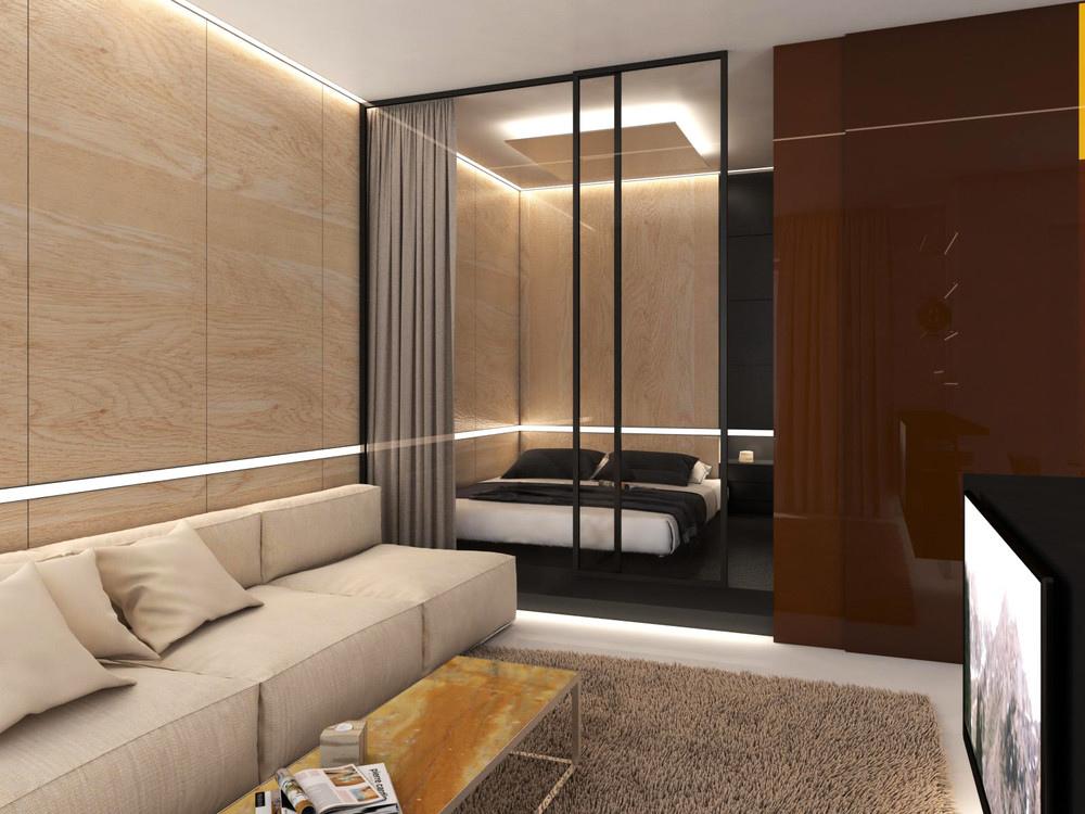Дизайн-проект квартиры открытой планировки 47 кв.