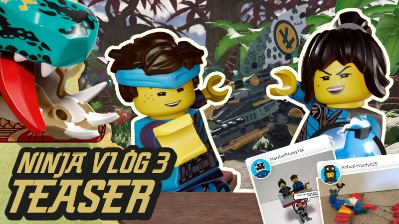 Видеоблог ниндзя №3 Время для дракона Ния и Джей из LEGO NINJAGO