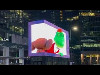 В «Москва-Сити» запустили 3D-рекламу.Это первая на...